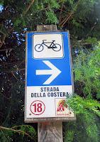 Segnaletica percorso cicloturistico Strada della Costera