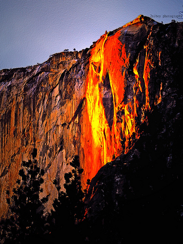 Yosemite Lava Falls Wallpaper Physics Context Waterfall Is Usual What About Quot Fire Fall