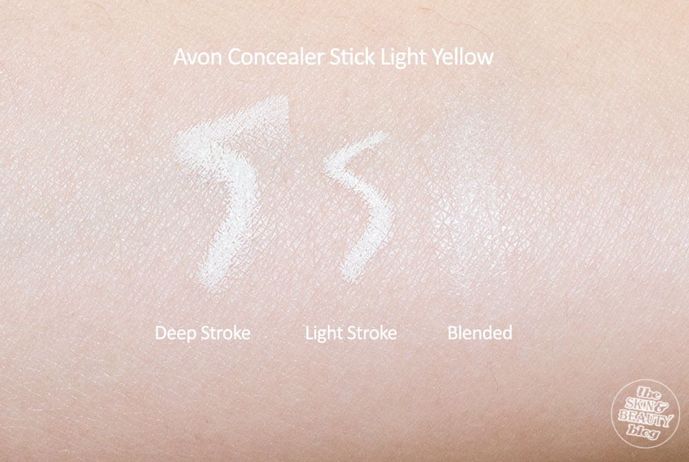 Avon Ideal Flawless CC Concealer Stick Softening Yellow Review, Swatches