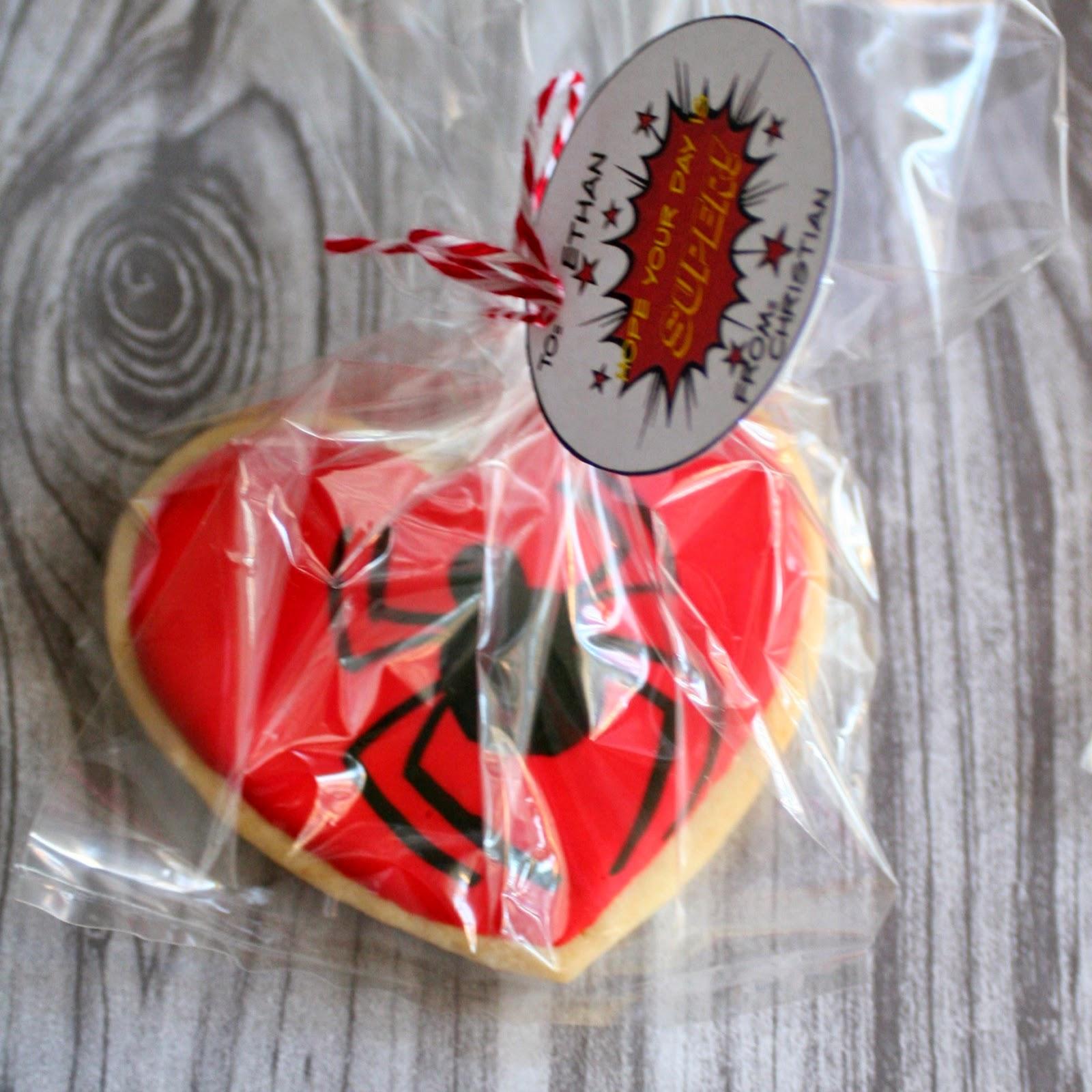 Superhero Sugar Cookies with free printables | jordanseasyentertaining.com #superman #spiderman #batman #greenlatern