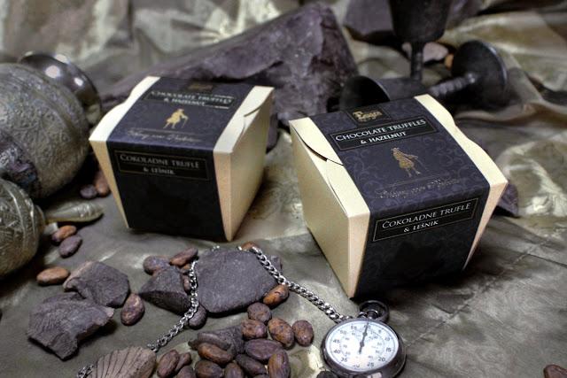 Chocolate truffles & hazelnuts