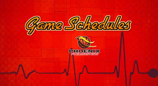 List: Phoenix Fuelmasters Game Schedules 2017-2018 PBA Philippine Cup