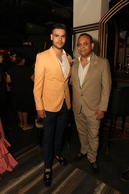Krishana Mehhra   with Designer Ajjay Mehrra