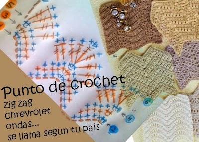 Punto Ondas, Chrevrolet, Zig Zag, en Crochet