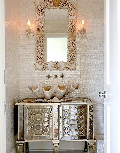 glamorous bathroom ideas   TROVE INTERIORS: A little bathroom glamour