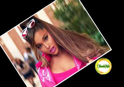 Ariana Grande Poses In Sexy Pink Lingerie In Sneak Peek Of 7 Rings Music Video Poster