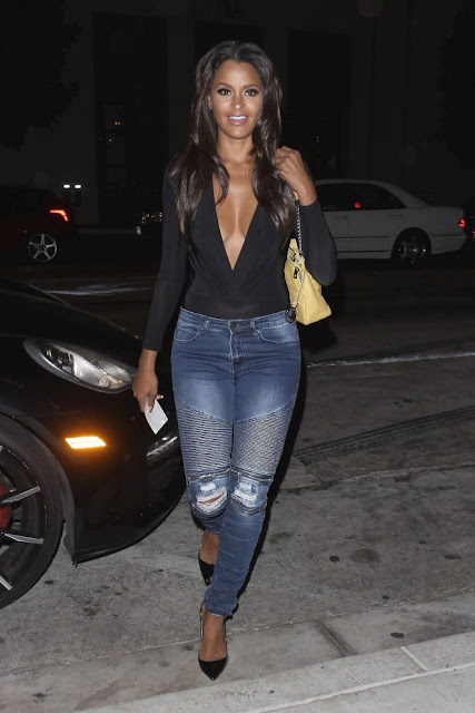Claudia Jordan in Jeans out in LA