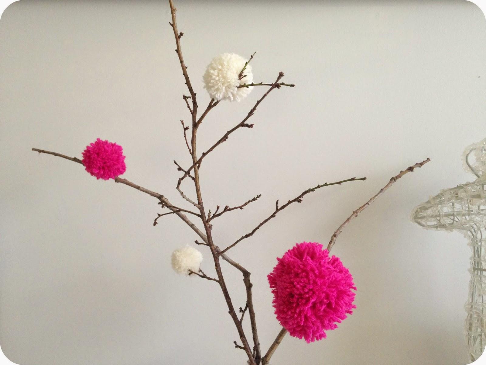 décoration avec des diy pompon