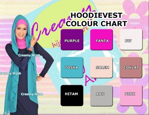 Jilbab Hoodievest Ceruti by Creamy  9c3115545c