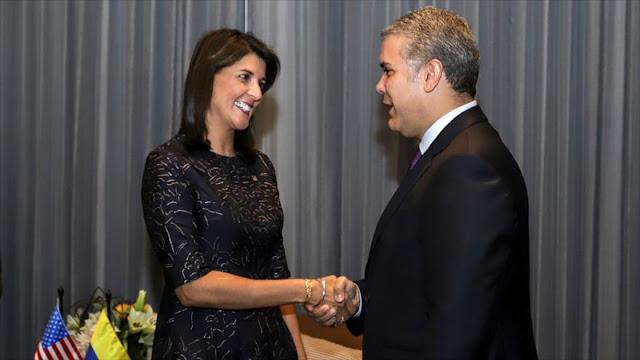 EEUU pide a Duque que 'lidere' una lucha regional contra Venezuela