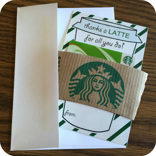 Starbucks Free Printable Teacher Appreciation
