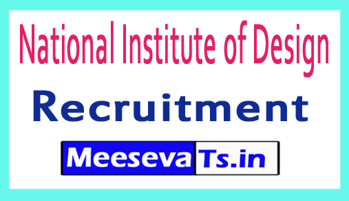 National Institute of Design NID Recruitment