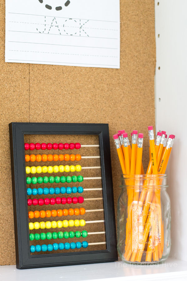 Easy DIY abacus playroom art.