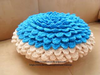 capas de almofadas de crochê