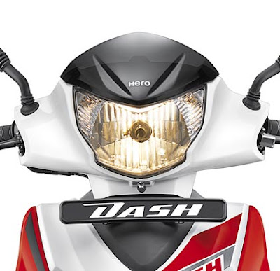 Hero Dash 110cc Scooter front headlight