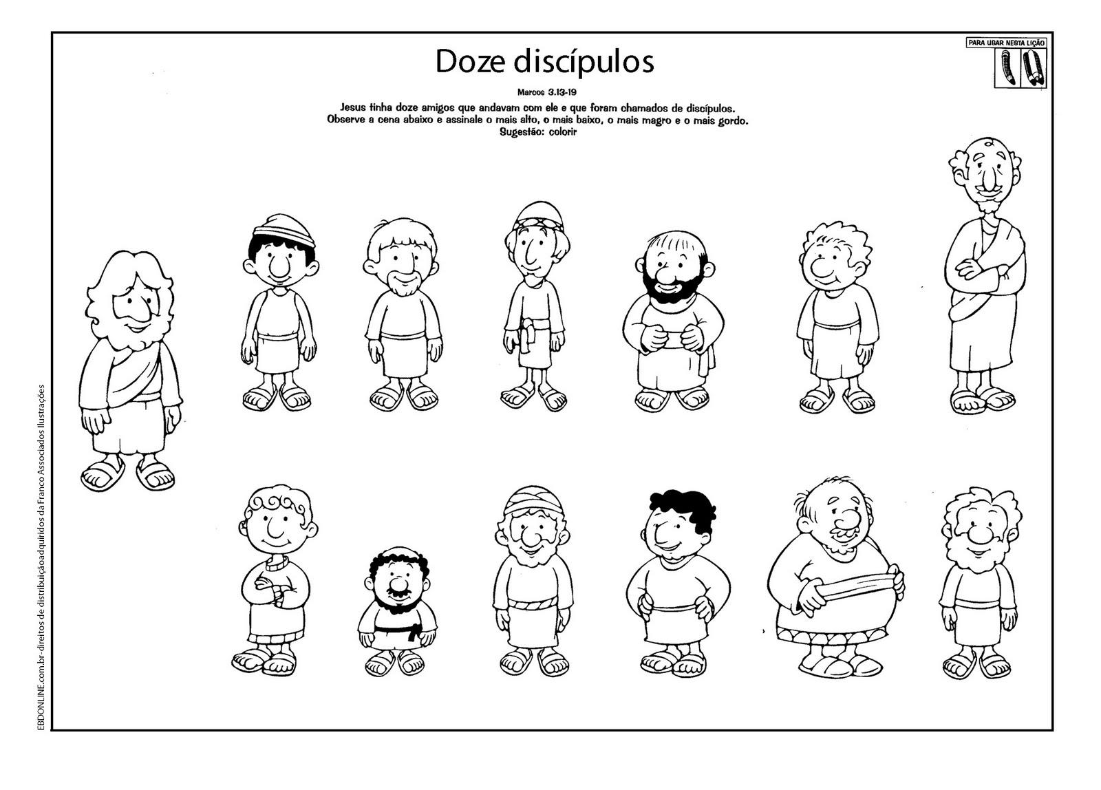 AULAS PARA EVANGELIZAO INFANTIL APSTOLOS OU DISCPULOS