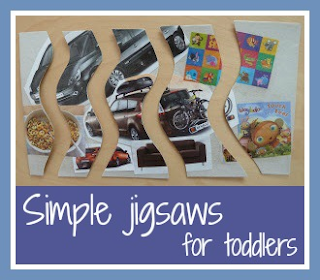 How to make simple jigsaws for toddlers