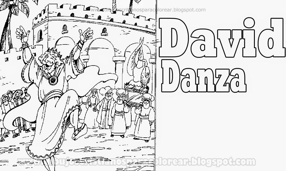 Dibujos Biblicos Para Colorear Del Rey David: David Danza Para Colorear