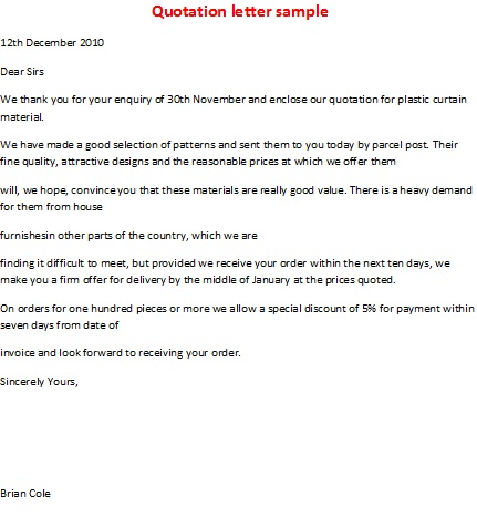 Email Quotation Letter Anaiarah6