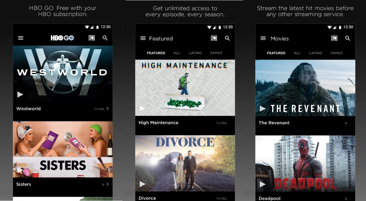 HBO GO For Android APK - Screenshots