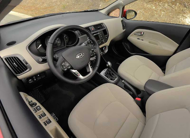 2012 Kia Rio EX interior - Subcompact Culture
