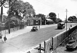 A newly straightened section of road at Hardy Mill, Harwood, c1935.