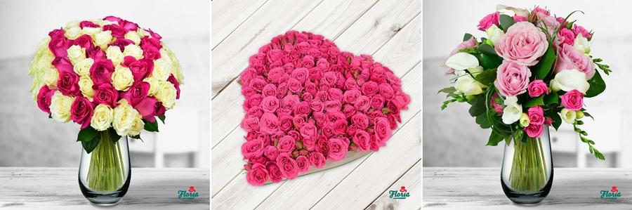 flori cadou 1 8 martie dragobete trandafiri inima