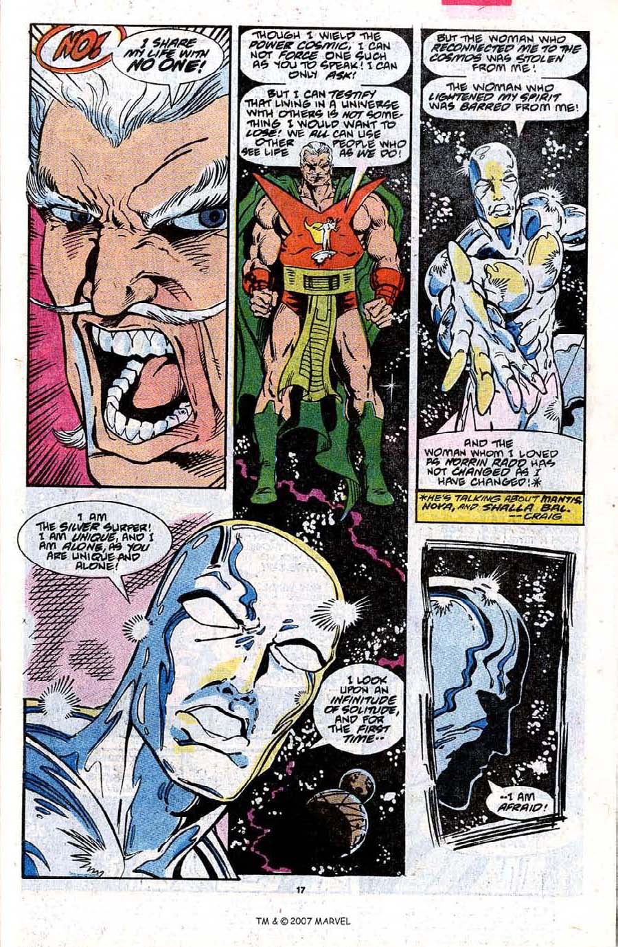 Read online Silver Surfer (1987) comic -  Issue #31 - 19