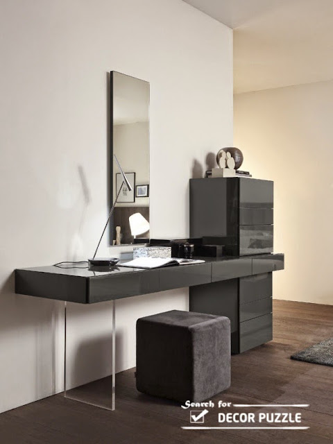 modern black dressing tables, latest dressing table designs 2018