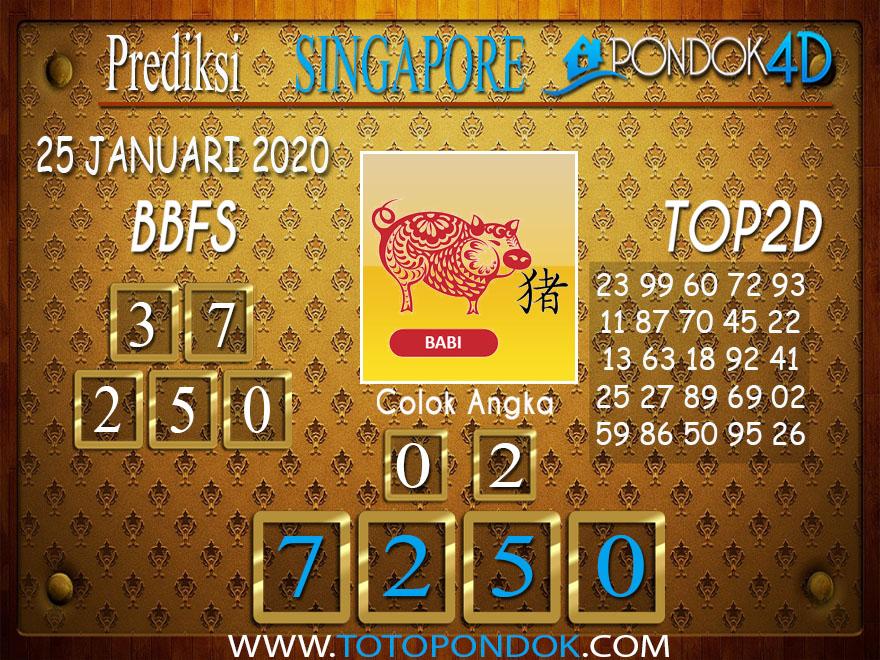 Prediksi Togel SINGAPORE PONDOK4D 25 JANUARI 2020