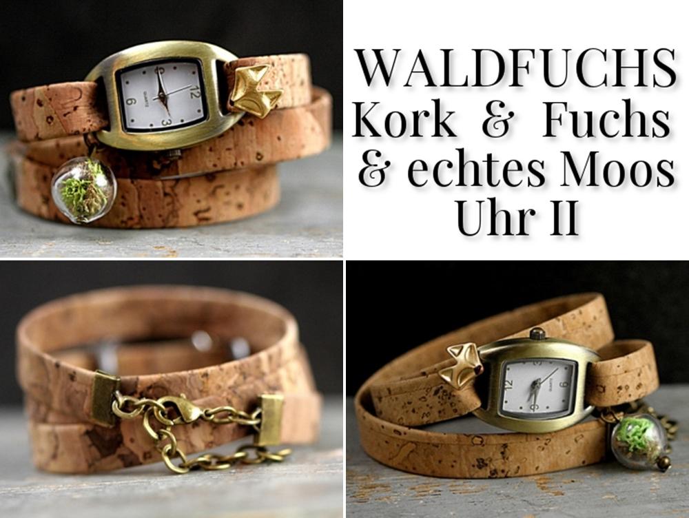 WALDFUCHS KORK & FUCHS & ECHTES MOOS UHR II