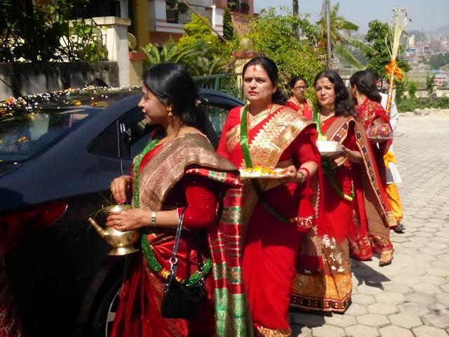 Nepalese women performing ritual