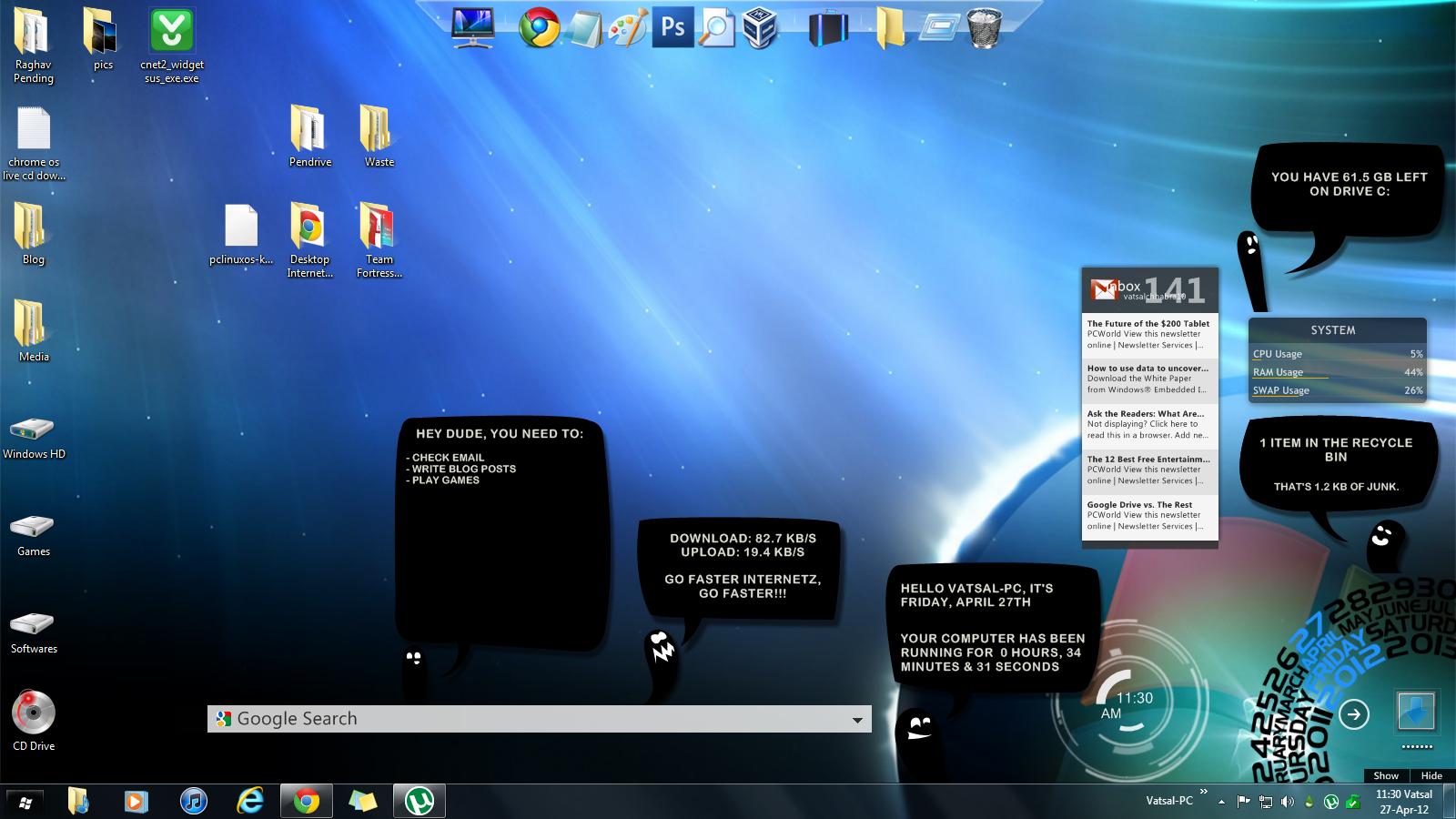 Pcomputer: Alternatives to Windows Desktop Gadgets