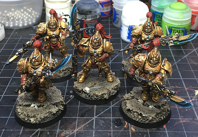Custodian Guard with Halberds WIP Final armor highlights