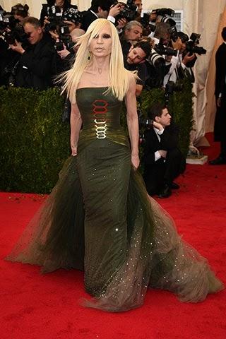 Donatella Versace in Versace.