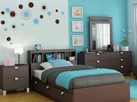 Wandgestaltung Schlafzimmer Blau