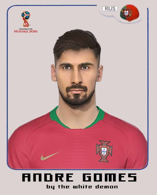 Andre Gomes Face PES 2018