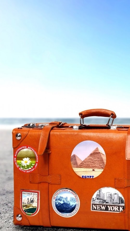 Brown Suitcase   Galaxy Note HD Wallpaper