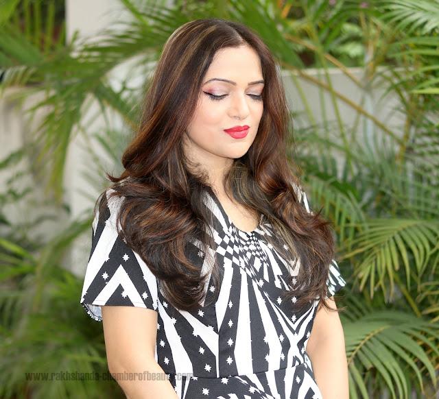 The monochrome fashion trend, Everything5pounds Peplum dress, Indian fashion blogger, Chamber of Beauty