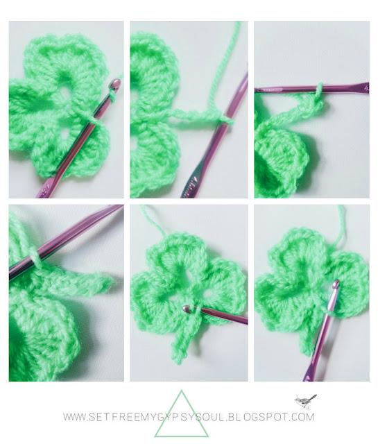 free shamrock clover crochet granny square pattern
