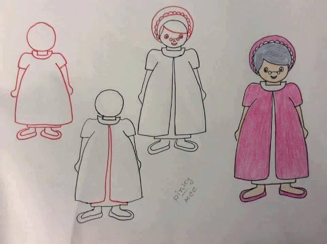 Belajar menggambar tokoh kartun untuk anak-anak 5