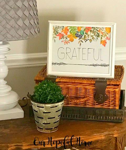 Grateful free fall printable picnin basket olive bucket