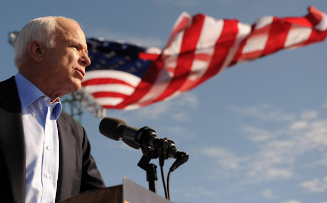 McCain appears to criticize Trump in farewell message to the nation