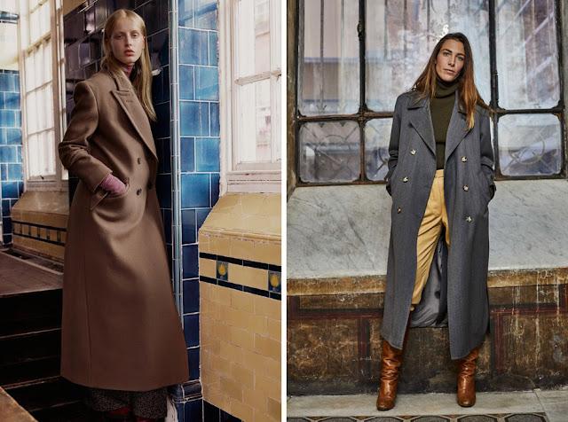 Девушки в пальто нейтрального цвета