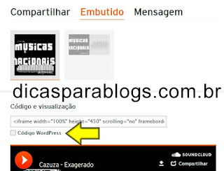 colocar musica no blogger ou wordpress