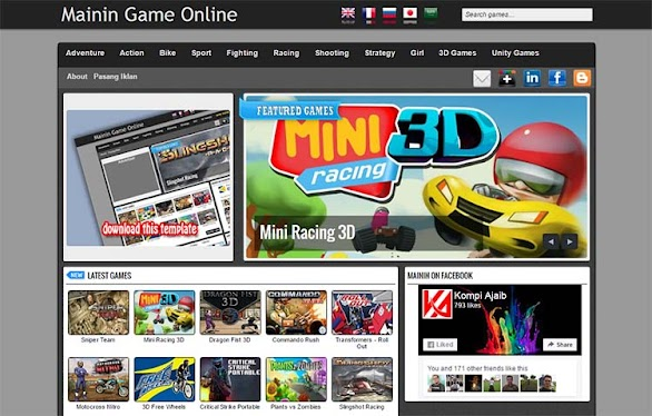 Free Blogger Template - Mainin Game Online