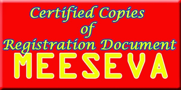 Certified Copies of Registration Document Apply Meeseva
