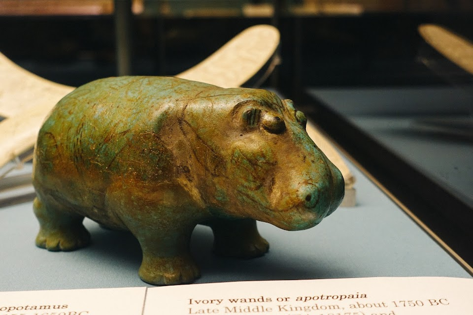 Glazed composition hippopotamus