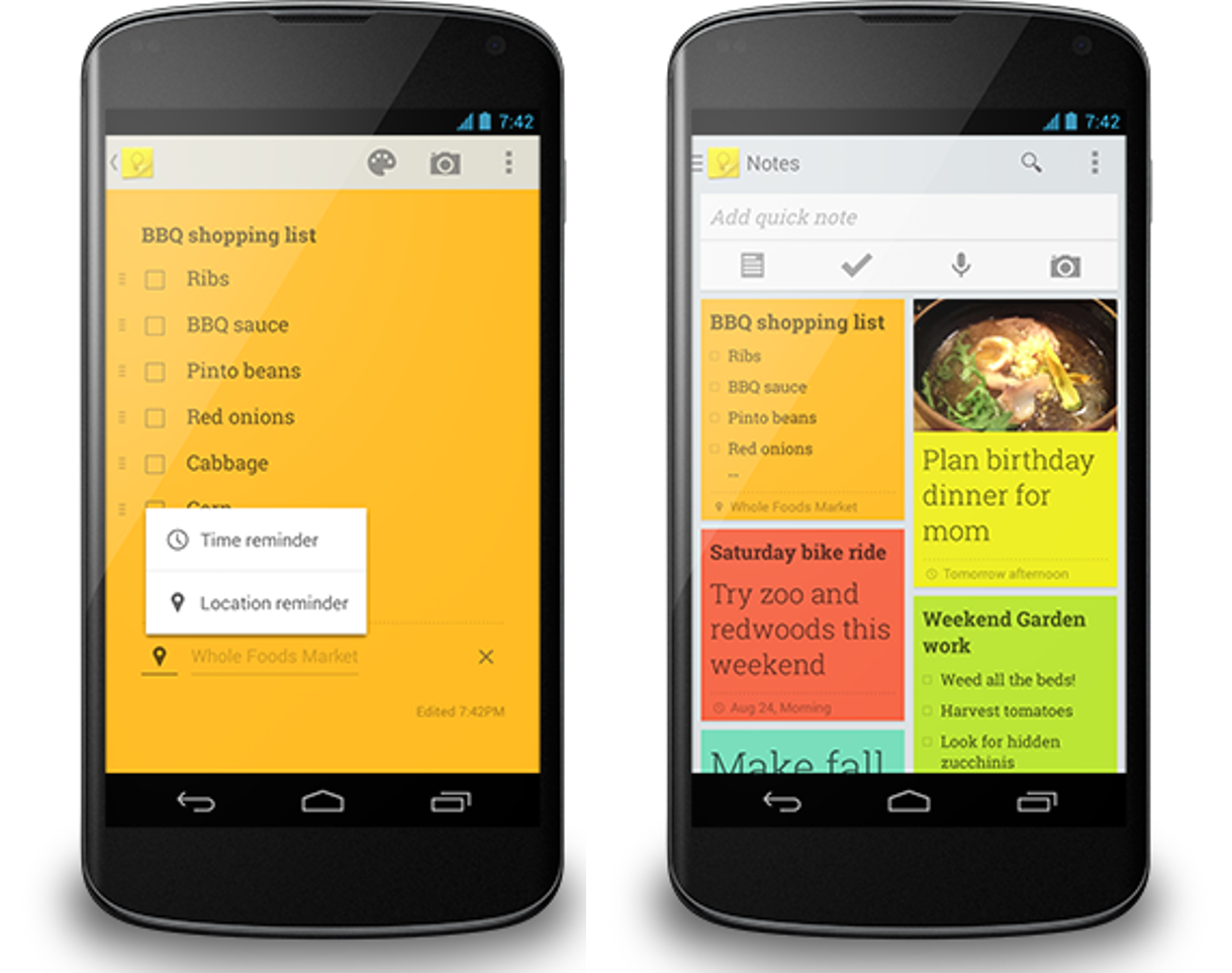 insert photo of Google Keep