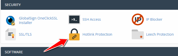 Click on Hotlink Protection